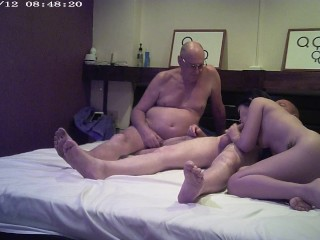 previous cuckold watches younger spouse with giant cock guy