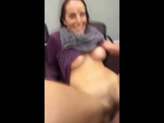 Horny MILF met onFuckMetfucked at the desk
