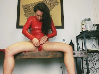 Have compatibility goddess in purple latex fingering