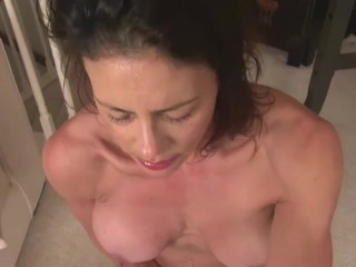 naughty milf with giant juicy pussy lips likes to figure out