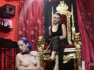 A slave for the unpleasant queen