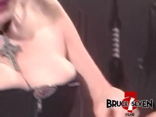 BRUCE SEVEN – Horny Brunette and Blonde Dominate Intercourse Slave