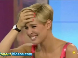 SPANISH HOST IS STRIPPED NAKED ON TV! ENF + HUMILIATION (MARIA LAPIEDRA)