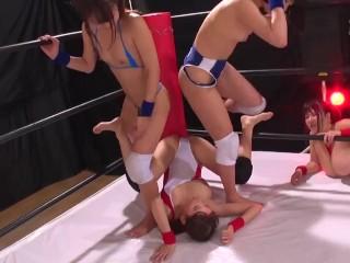 Tag Fit Lesbian Professional-wrestling