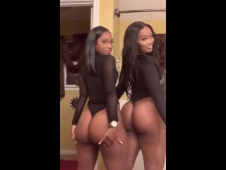 2 Giant booty black bitches