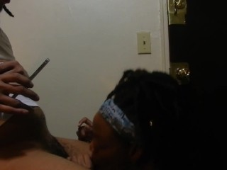 Blond Blow Process from a lesbian