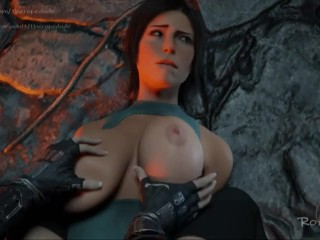 Lara Croft get her boobs slapped by way of Tifa