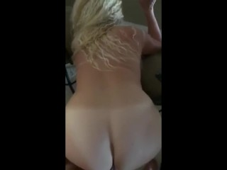 PAWG Blonde cumming onerous by means of doggystyle