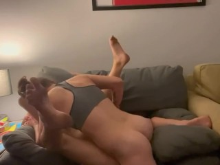 Actual lesbian fuck: She kiss me, palms me, eats my pussy and rides my face,complete video on my OnlyFan