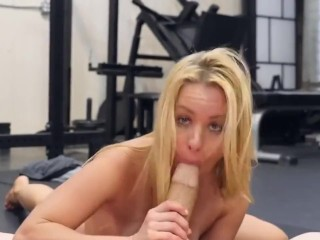 health club slut lilly ford will get surprising exercise