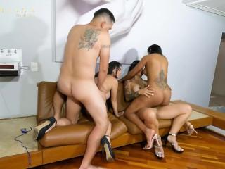 Mariana Martix and her pals fuck Rappi's supply guy at a Motel birthday celebration