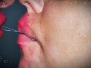 Women spit Kiss