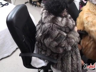 Obese mature lesbians strapon fuck with fur and mohair