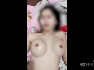 Thai youngster having intercourse at the mattress | นมสวย เสียงไทย