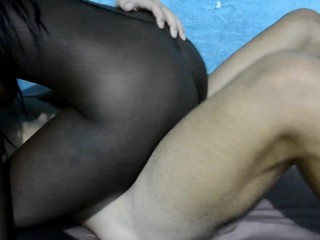 Black woman play to be my step sister and me step brother