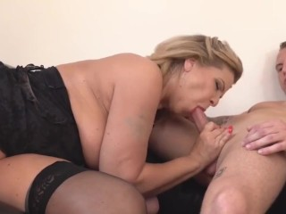 ecu busty mature mother will get cuni and intercourse from boy giant ass
