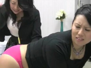 Large Butt Asian Ladies Getting Spanked