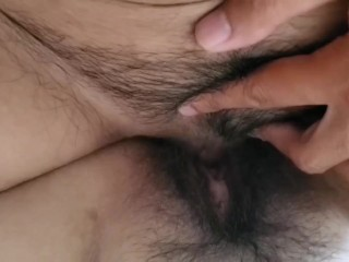 Asian BBW Milf squirts on FtM Giant Clit (DicClit)