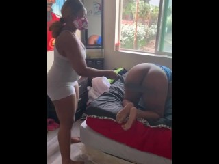 Ebony lady will get spanked for no longer dressing correctly