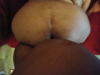 EBONY BBW RIDE HARD BBC AND GET CREAMPIE IN HER ASSHOLE