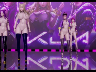 MMD LAYSHA – Chocolate Cream Strip Vers. Ahri Akali Kaisa Evelynn KDA 3-d Erotic Dance 4K 60FPS