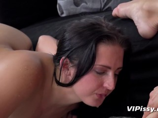 Dildo Play For Scorching Pissing Lesbian Babes