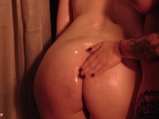 Latex Lesbian Rest room Petting and Sexual Excitement