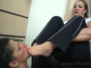 Offended Mistress Slave Kiss Smelly Sweaty Ft And Odor Ft