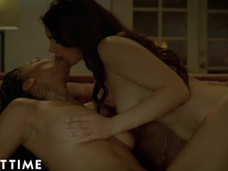 ADULT TIME Stacked Lesbians Julie Kay & Valentina Nappi 69 By means of The Fireplace
