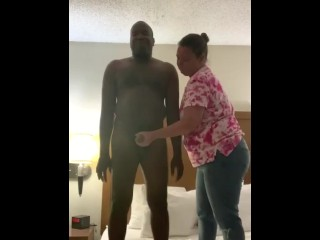 White woman offers black man a hand activity