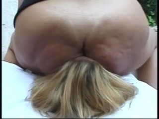 Brazil mature Brazilian facesitting and spits on younger sub.