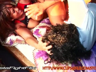 Ebony Pornstar Butt Bare Catfights
