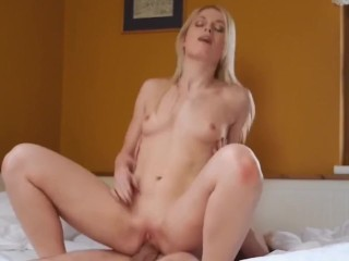 scorching blonde candy cat loved a large cock in her pussy