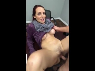 Sizzling MILF met at MetFucokay Com w Large Boobs fucked at the desk