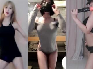 (雅俗共赏系列)韩舞BJ萌妹主播跳舞成人裸舞火车摇,看看谁跳的更诱惑,更多抖音裸舞系列点我主页进电报群(这个舞适合放大音乐跟着嗨!)
