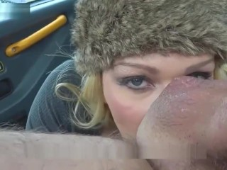 Pretend Taxi Busty blonde MILF Amber Jayne sucks and fucks large taxi cock