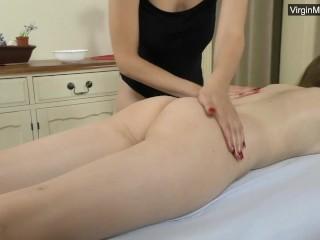 Brunette Abel will get her tight ass massaged