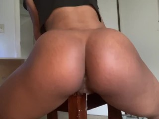 Bubble Butt Humps Desk Exhausting To Cum