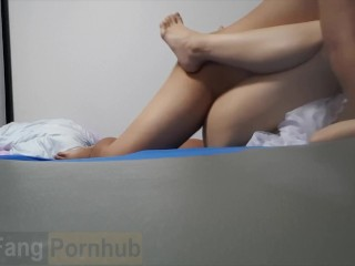 Asian do-it-yourself newbie female friend cum on frame. thai ไทย ตั้งกล้องถ่ายตอนเย็ดกับแฟนเก่า Asain couple