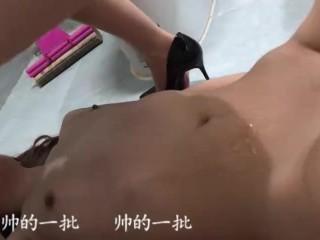 Chinese language lesbian foot