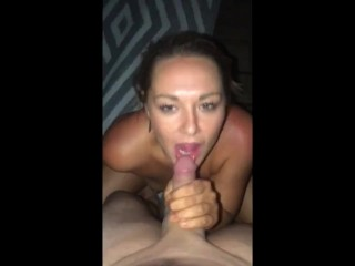 Tremendous Sizzling Blonde give Superb Sloppy Blowjob