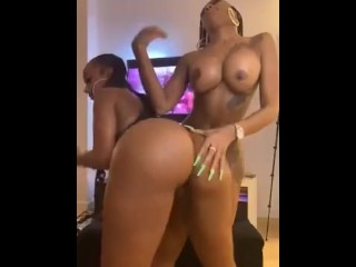 Stunning ebony sluts dancing and feeling on every different