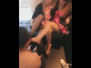 chinese language lesbian foot worship