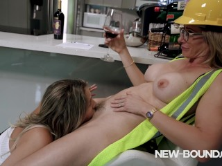 Scorching Large Tit Milfs Devour some Pussy and Kiss – Nikki Brooks and Cory Chase