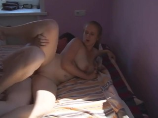 russian beautiful beginner couple fucks in a sunny room (phase 1)