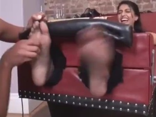 Indian woman tickled in shares