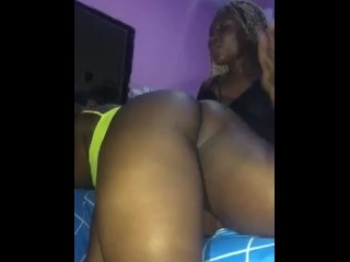 Ebony lesbian spanking