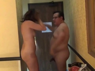 Sizzling MILF Deepthroat Blowjob in Lodge Room