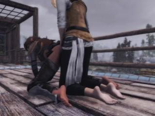 The Elder Scrolls V Skyrim Particular Version Pussy pounding dildo motion