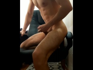 Large Cumshot from Massive Cock and Large Balls